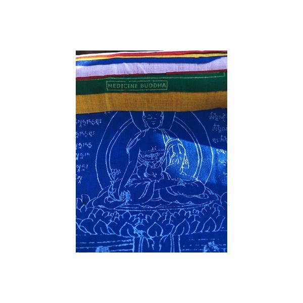Gebetsfahne aus Baumwolle - Medizin Buddha 2 m