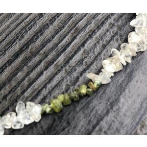 Bergkristall / Citrin / Olivin - Splitter - Kette 42 cm (hell) - Heilstein