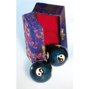 Qi Gong Kugeln 50 mm blau