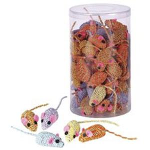 4 Stk. Katzenspielzeug Mouse Twisty ca. 4,5 cm