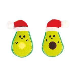 Katzen Sommerfrüchte im Weihnachtsoutfit