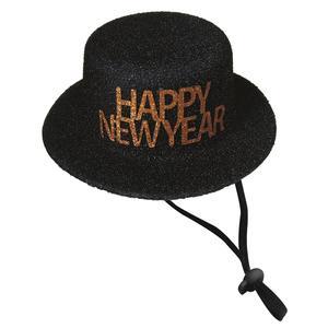 XMas Happy New Year Hut Durchmesser ca. 13 cm