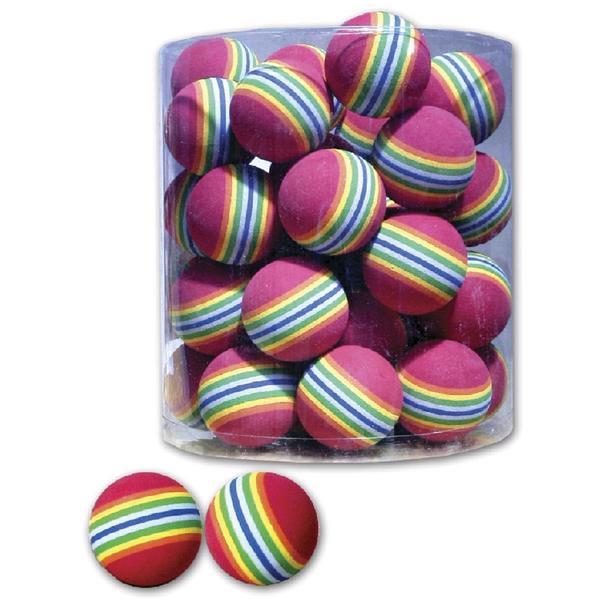 4 Stk. Katzenspielzeug Spielball Rainbow ca. 4 cm