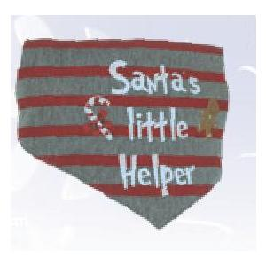 "Christmas Bandana ""Santas little Helper"" Gr. L"