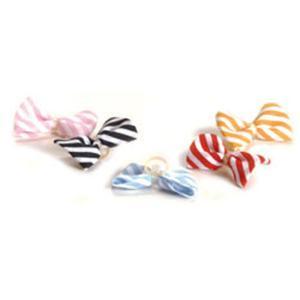 Haarmascherl Stripes mit Gummiring Gelb/Weiß