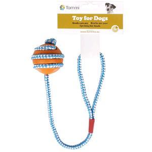 Gummwurfball mit Seil ca. 45 cm