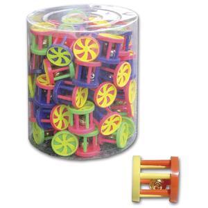 4 Stk. Katzenspielzeug Roller mit Glöckchen