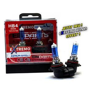 EinParts HB4 EXTREMO 100% XENON LOOK OPTIK EFFECT 8500K Halogen Scheinwerfer Lampe 12V E4 Duobox