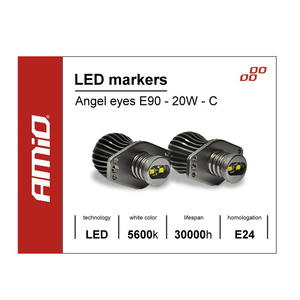 LED Marker Angel Eyes E90 Cree 20W Weißer High Power Umrüstsatz