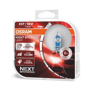Osram H7 Nightbreaker Laser +150% Next Generation 12V Halogen Scheinwerfer Lampen