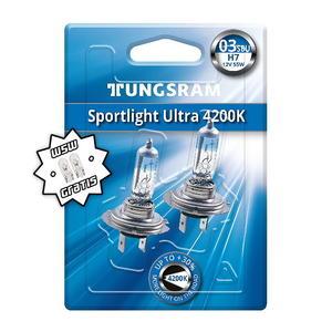 Tungsram H7 Sportlight Ultra 4200K +30% Halogen Scheinwerfer Lampe PX26d 12V 55W Duoblister + W5W T10 Standlicht