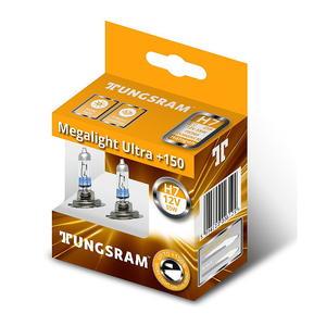 Tungsram H7 GE MegaLight Ultra +150% Halogen Scheinwerfer Lampe 12V Duobox