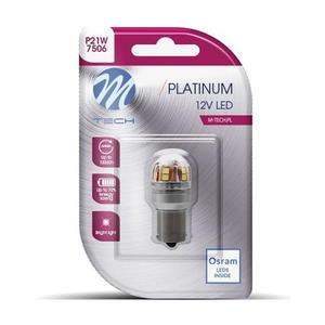 M-Tech P21W S25 BA15s 12V LED 6000K Bulb Style Cool White Innenraumbeleuchtung