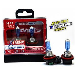 EinParts H11 EXTREMO 100% XENON LOOK OPTIK EFFECT 8500K Halogen Scheinwerfer Lampe 12V E4 Duobox