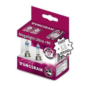 Tungsram H11 Megalight Ultra +90% Halogen Scheinwerfer Lampe PGJ19-2 12V 55W Duobox + W5W T10 Standlicht