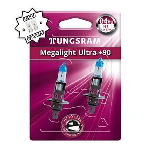 Tungsram H1 Megalight Ultra +90% Halogen Scheinwerfer Lampe P14,5s 12V 55W Duoblister + W5W T10 Standlicht