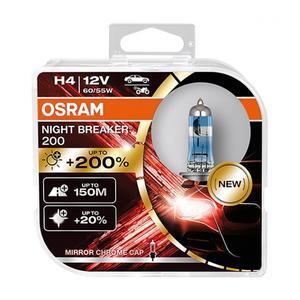Osram H4 Night Breaker 200 Neu 2021 +200% mehr Licht Halogen Scheinwerfer Lampe Nightbreaker P43t 12V 60/55W Duobox