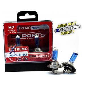 EinParts H7 EXTREMO 100% XENON LOOK OPTIK EFFECT 8500K Halogen Scheinwerfer Lampe 12V E4 Duobox