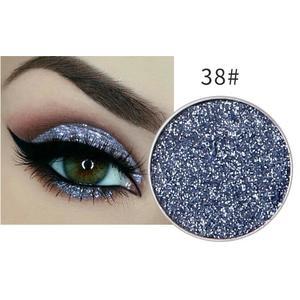 Festlicher Glitzer Eyeshadow Glitzer Lidschatten Glitter Augen Make Up Nr. 38 blau grau