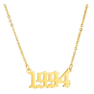 Damen Geburtsjahr Halskette gold 1994 aus Edelstahl ideales Geschenk