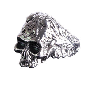Deadhead Skull otenkopf Ring Biker Ring Gothic Silber für Herren und Biker RZ601 (59 (18.8))