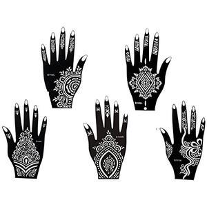 Mehandi Tattoo Schablonen 5 Stück Set - Henna