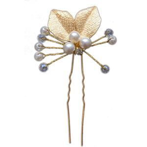 2 Stück Hochzeit Haarschmuck, Kristall Brautschmuck, Haarnadeln für Braut Brautjungfer Blumenmädchen Ha509
