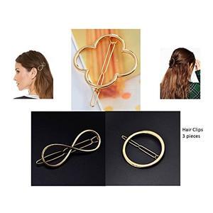 Haarspange Gold Haarschmuck Haarclip Kopfschmuck 3 Stück Infinity Blumen Kreis Haarspange