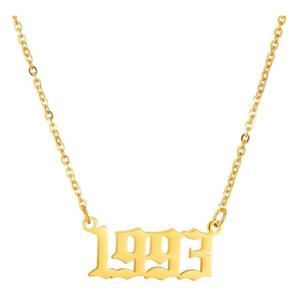 Damen Geburtsjahr Halskette gold 1993 aus Edelstahl ideales Geschenk