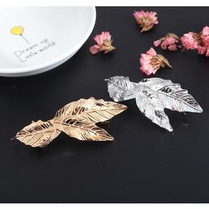 2 Stück Blätter Haarspange gold und silber Haarschmuck Haarclip Kopfschmuck Ha60 61