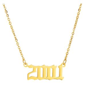 Damen Geburtsjahr Halskette gold 2001 aus Edelstahl ideales Geschenk