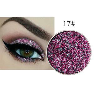 Festlicher Glitzer Eyeshadow Glitzer Lidschatten Glitter Augen Make Up Nr. 17 violett