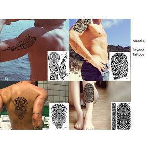 Männer Tribal Tattoos 4 Bögen Temporär Arm Oberarm Tattoo Aufkleber Maori 4