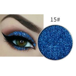 Festlicher Glitzer Eyeshadow Glitzer Lidschatten Glitter Augen Make Up Nr. 15 blau