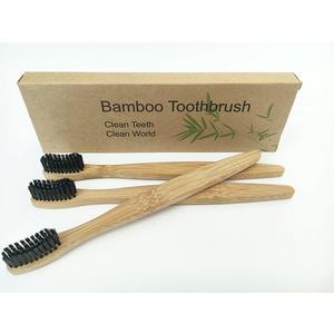 Nachhaltige Holz- Bambus Zahnbürsten 9 Stück Set für Erwachsenen