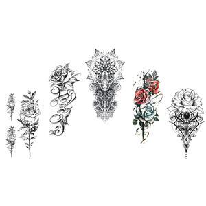 Rosen Tattoos Blumen Tattoos 5 Bögen Set Einmal Tattoos Rose Dream 5