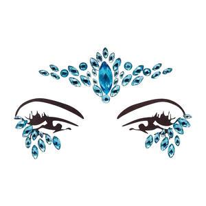 Gesicht Juwelen Gesichtskristale Gesicht Schmuck Glitzer Make Up BFG1809 blau