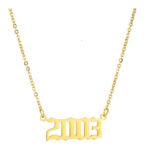 Damen Geburtsjahr Halskette gold 2003 aus Edelstahl ideales Geschenk