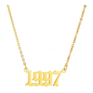 Damen Geburtsjahr Halskette gold 1997 aus Edelstahl ideales Geschenk