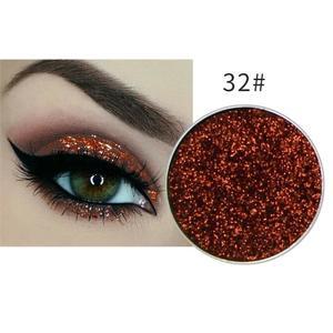 Festlicher Glitzer Eyeshadow Glitzer Lidschatten Glitter Augen Make Up Nr. 32 rot braun