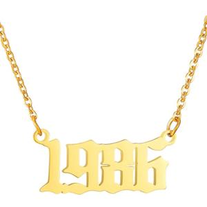 Damen Geburtsjahr Halskette gold 1986 aus Edelstahl ideales Geschenk