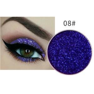 Festlicher Glitzer Eyeshadow Glitzer Lidschatten Glitter Augen Make Up Nr. 8 lila blau
