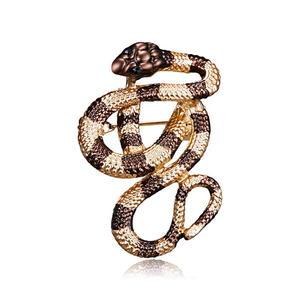 Schlange Brosche Anstecker Tier Brosche Snake Brooch K12