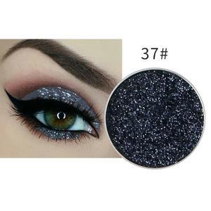 Festlicher Glitzer Eyeshadow Glitzer Lidschatten Glitter Augen Make Up Nr. 37 anthrazit