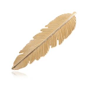 Feder Haarspange gold Haarschmuck Haarclip Kopfschmuck Haar06