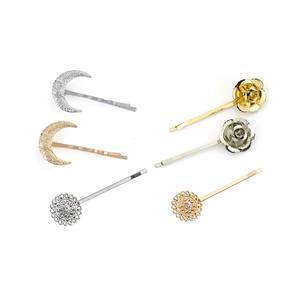 6 Stück Haarspange Freizeit Hochzeit Haarschmuck Kopfschmuck Haarspange Set Flower Moon gold und silber