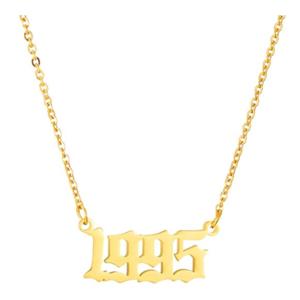 Damen Geburtsjahr Halskette gold 1995 aus Edelstahl ideales Geschenk
