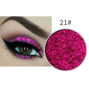 Festlicher Glitzer Eyeshadow Glitzer Lidschatten Glitter Augen Make Up Nr. 21 pink