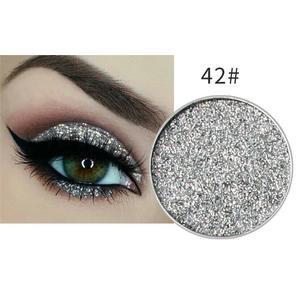 Silber Glitzer Eyeshadow Glitzer Lidschatten Glitter Augen Make Up Nr. 42 Silber