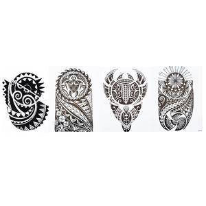 Männer Tribal Tattoos 4 Bögen Temporär Arm Oberarm Tattoo Aufkleber